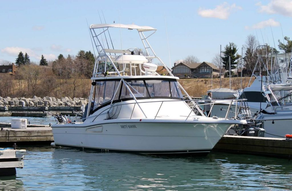 our charter fishging boat lake ontario