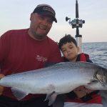 father son fishing trip lake ontario