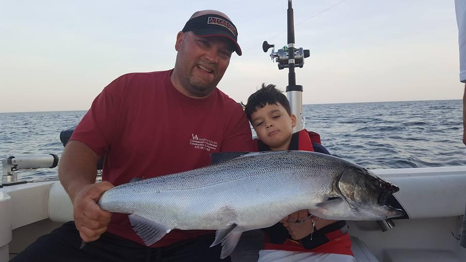 son father fishing trip lake ontario ny