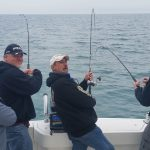 fishing lake ontario with friends