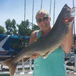 female fishing wrangler lake ontraio