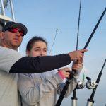 fishing with daughter on lake ontario