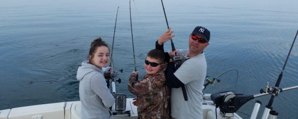 family fishing charter lake ontario