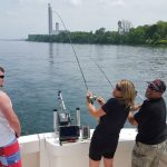 fishing charter with wife on lake ontario ny